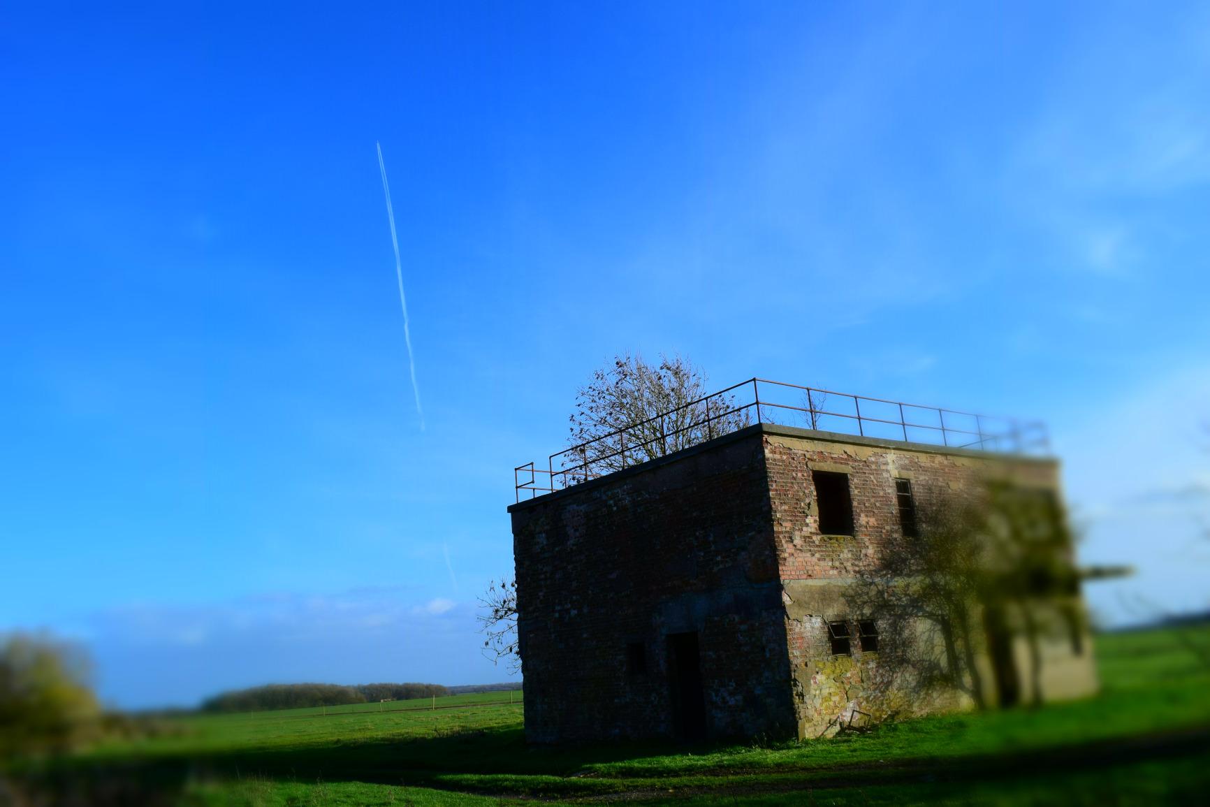 RAF Woolfox Lodge control tower flypast, Greetham, Rutland
