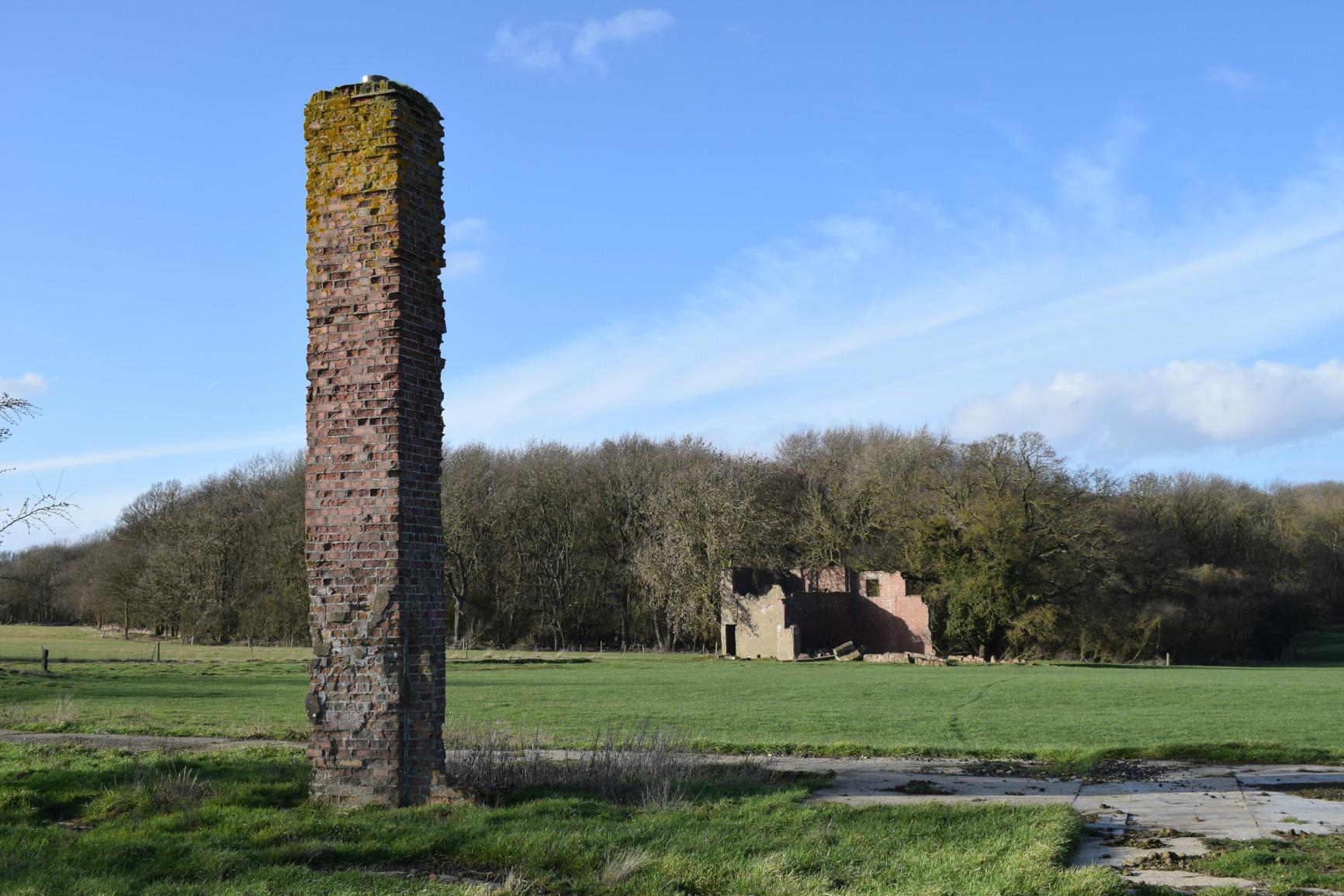 RAF Woolfox Lodge Lone chimney, Greetham, Rutland