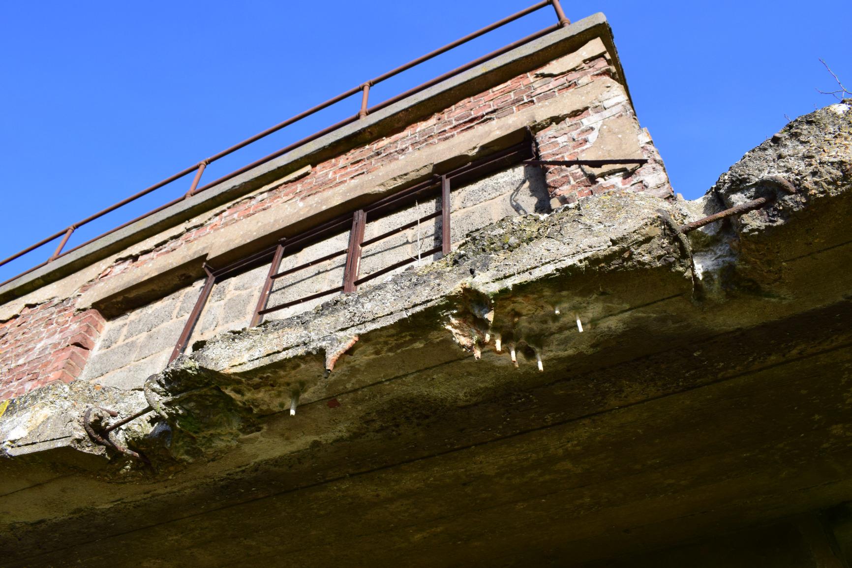 RAF Woolfox Lodge control tower observation deck, Greetham, Rutland