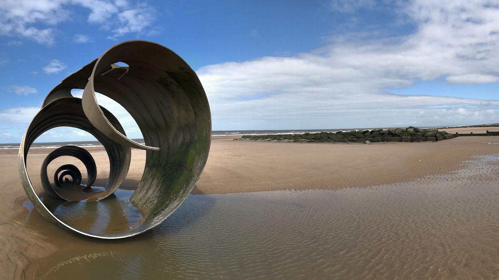 Mary's Shell, Cleveleys beach.